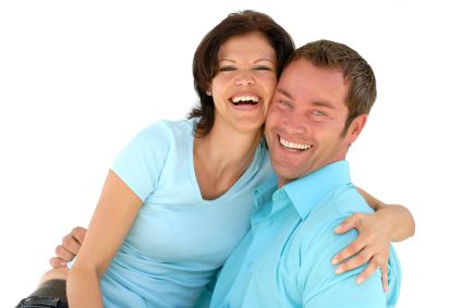 White Couple Smiling